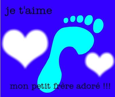 Montaje Fotografico Je Taime Petit Frere Pixiz