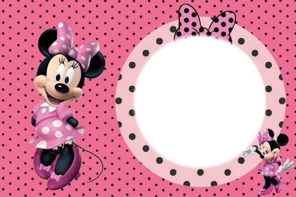 Montaje fotografico marco de minnie pixiz - Marcos redondos para cuadros ...