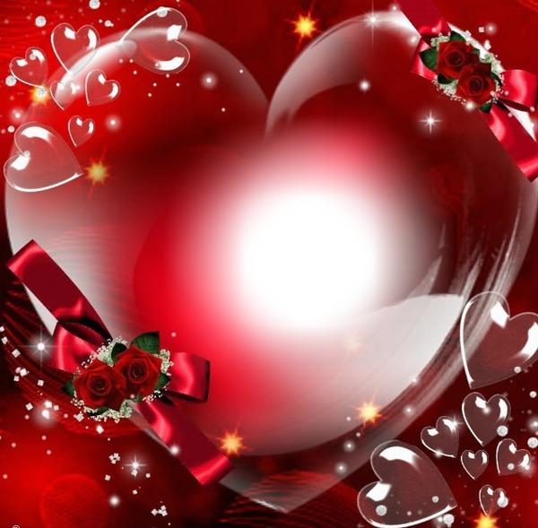 Montage photo coeur d 39 amour pixiz - Images avec des coeurs ...