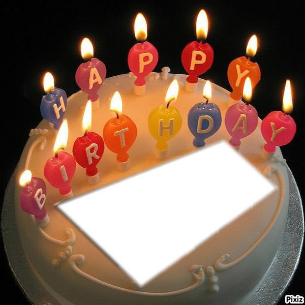 Photo montage Happy Birthday - Pixiz