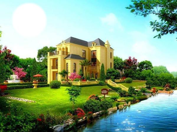 Фото природа дом с цветами