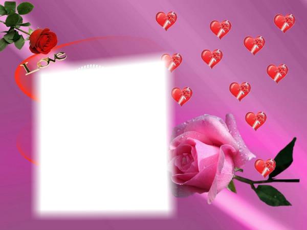 Photo Montage Love Rose Pixiz