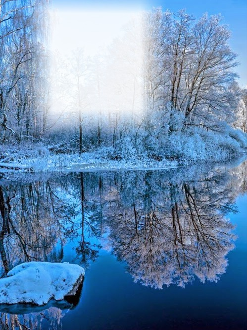 Montage photo paysage hivernal pixiz for Image de fond ecran qui bouge