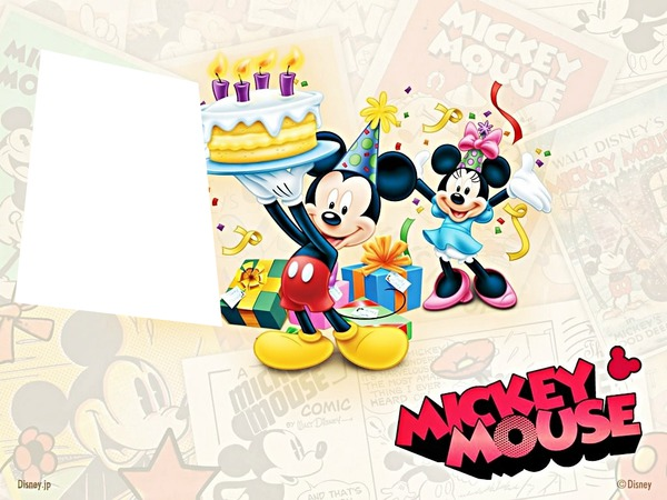 Baby mickey mouse 1st birthday wallpaper