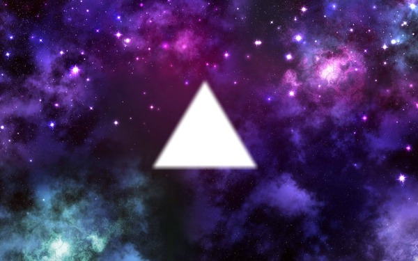 Photo Montage Triangle Galaxy Swag
