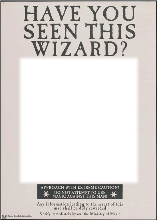 Monster image with harry potter have you seen this wizard printable