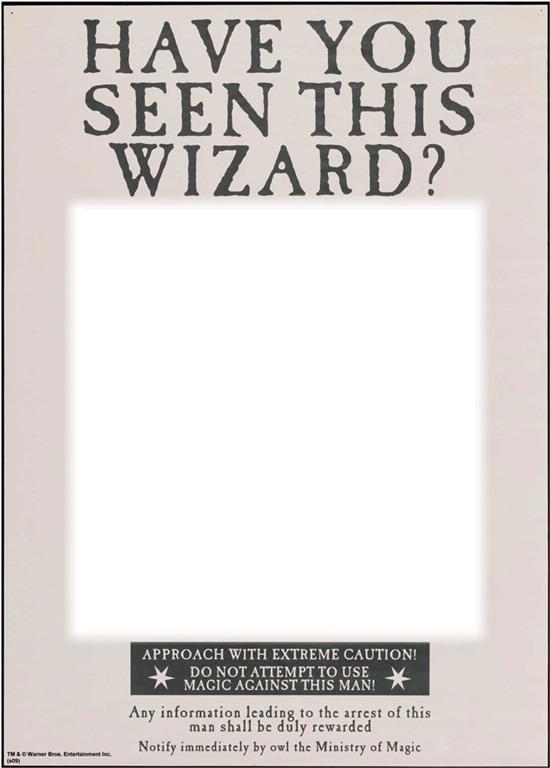 Fotomontagem Have You Seen This Wizard Pixiz