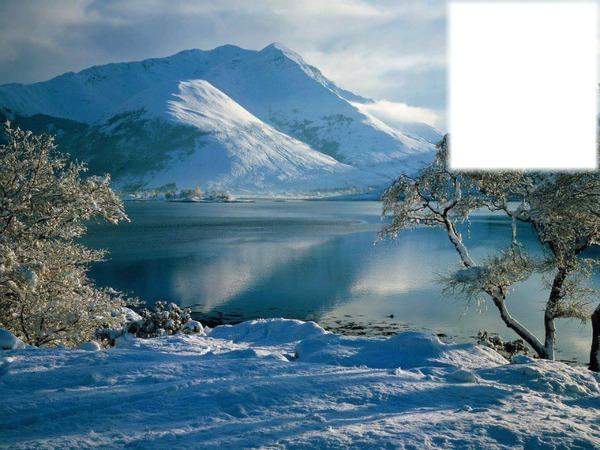 Montage Photo Paysage De Montagne Avec Neige Pixiz