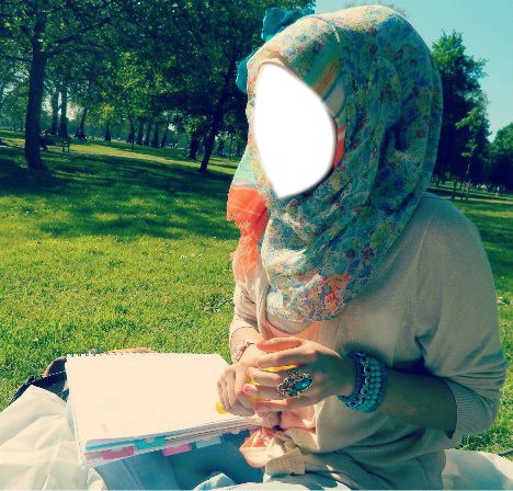 photo of girls muslim in the back with no hijab № 7742
