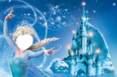 montage photo la reine des neiges
