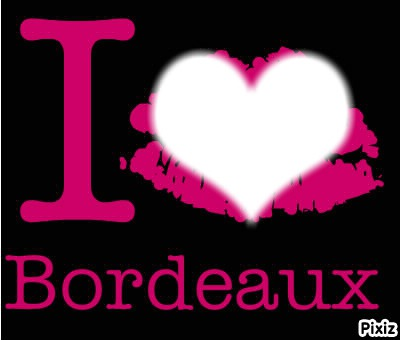 Photo montage I LOVE BORDEAUX - Pixiz