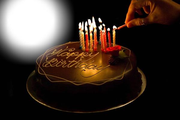 Анимация девушка из торта - Мужчине с днем рождения