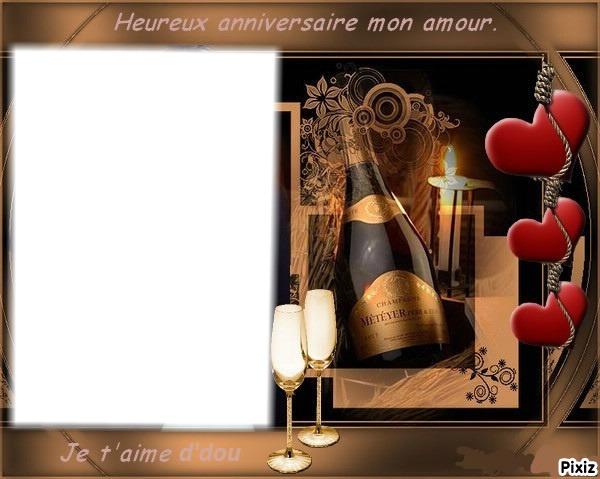 Montage Photo Joyeux Anniversaire Mon Amour Pixiz