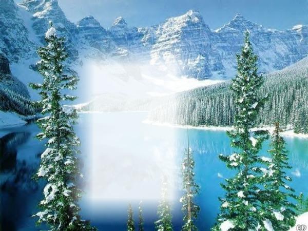 montage photo paysage montagne neige pixiz. Black Bedroom Furniture Sets. Home Design Ideas
