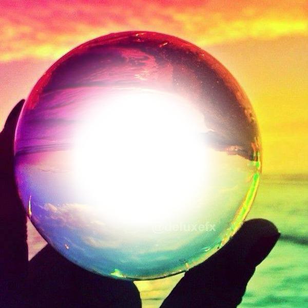 Montage photo bola de cristal 1 pixiz - Bolas de cristal personalizadas ...