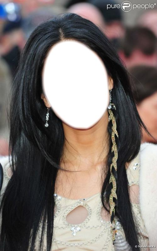 Прическа на черные волосы длинные 113
