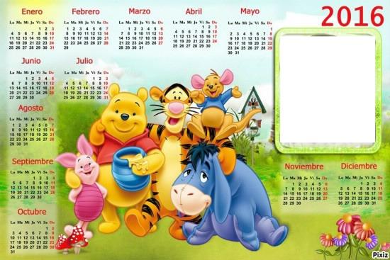 Photo montage calendario infantil 2016 - Pixiz