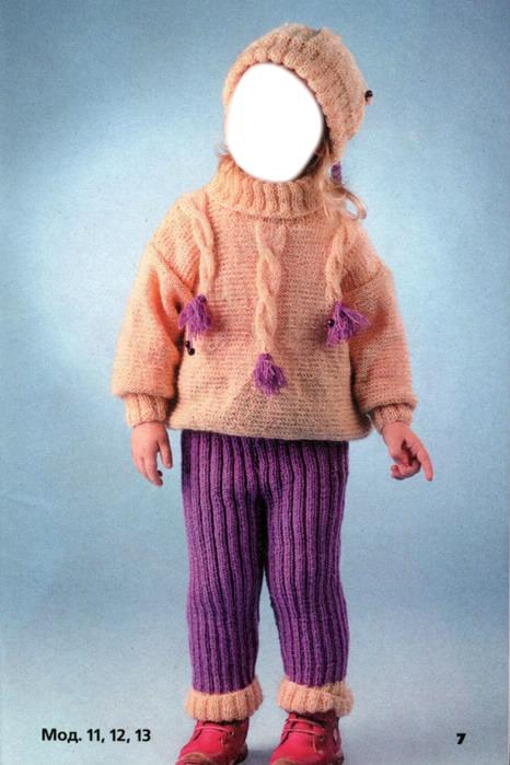 Вязанные костюмы для детей фото