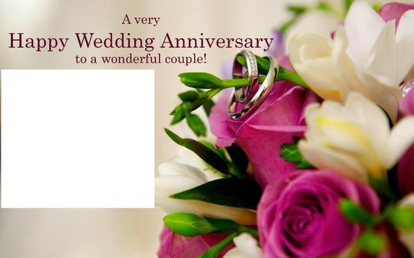Photo Montage Happy Wedding Anniversary Pixiz
