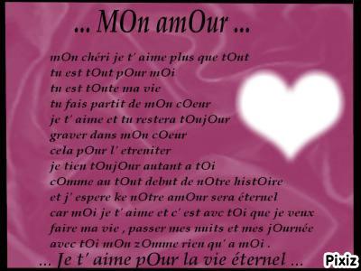 Montage Photo Poeme D Amour Pixiz