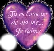 фотомонтаж Tu Es Lamour De Ma Vie Je Taime Pixiz