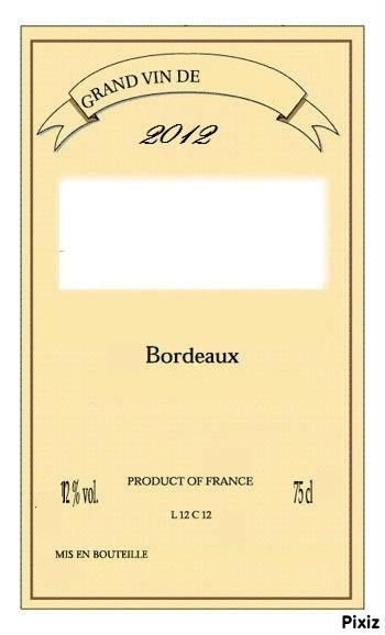 Montage photo etiquette bouteille vin pixiz for Bouteille de vin personnalisee montreal