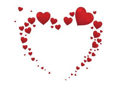 Montage photo 1 cadre avec pleins de coeurs en forme de coeur 1 photo pixiz - Images avec des coeurs ...