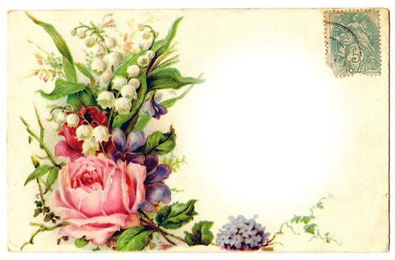 Винтажная открытка с юбилеем 69
