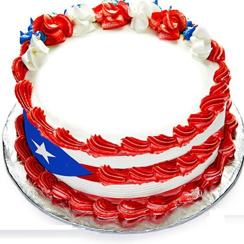 Puerto Rico Happy Birthday Cake