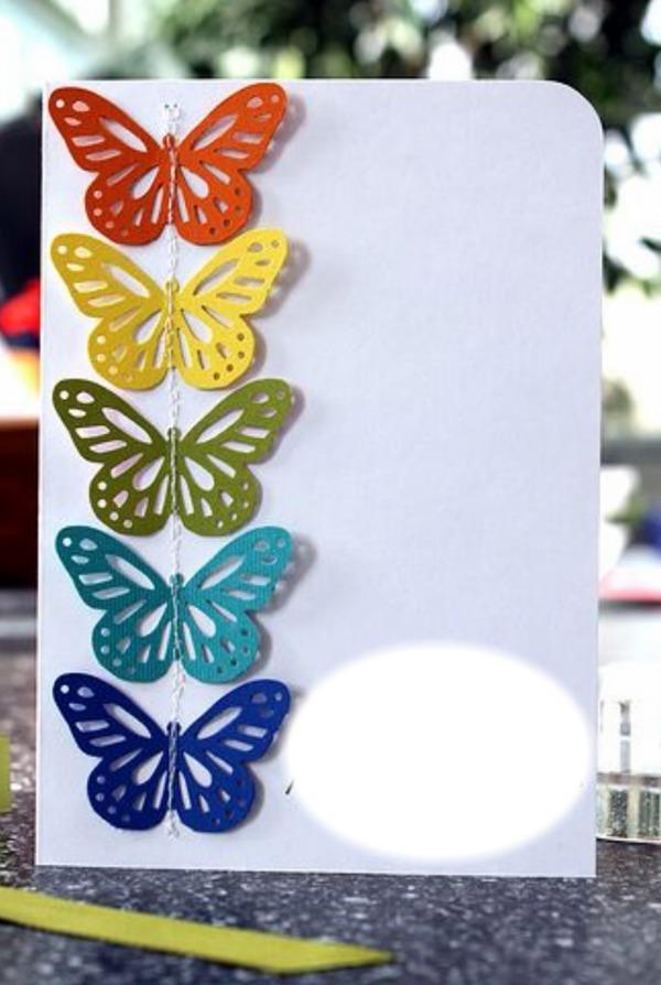 Бабочка для открытки своими руками