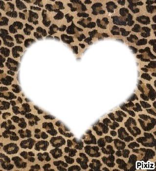 montage photo cadre leopard coeur charlene pixiz. Black Bedroom Furniture Sets. Home Design Ideas