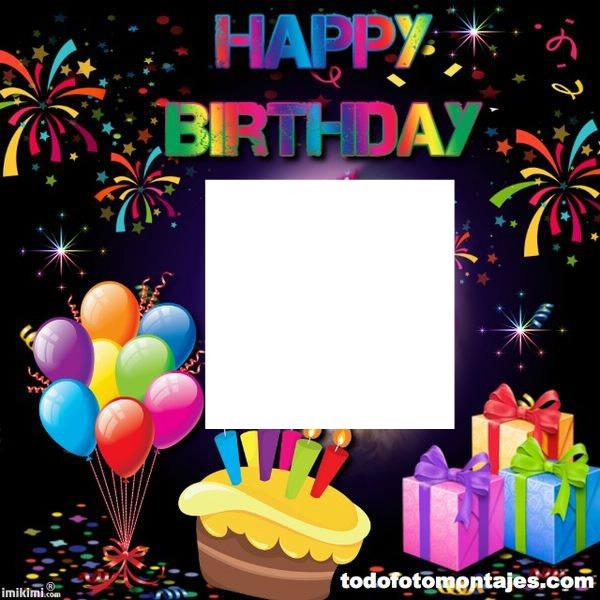 Photo Montage Happy Birthday Present