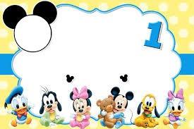 Montaje Fotografico Invitacion De Mickey Mouse Pixiz
