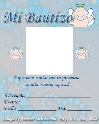 Montaje Fotografico Invitacion A Bautizo Pixiz