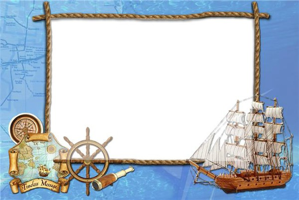Рамки для открыток морские 99