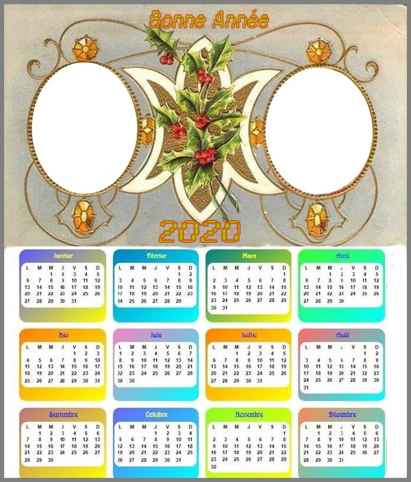 Photo montage calendrier 2020   Pixiz