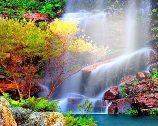 Montaje fotografico cascadas brillantes pixiz - Los cuadros mas bonitos ...