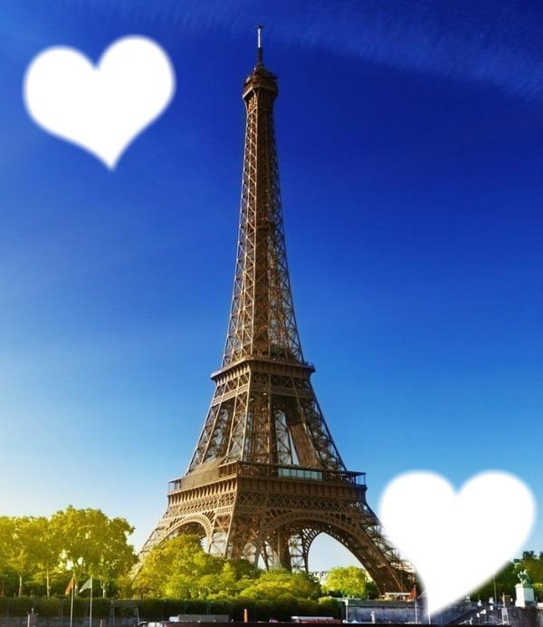 Fotomontagem Paris Torre Eiffel Pixiz
