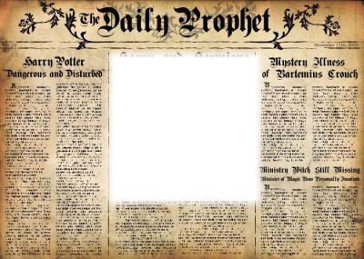 image about Daily Prophet Printable identify Image montage Every day Prophet - Pixiz