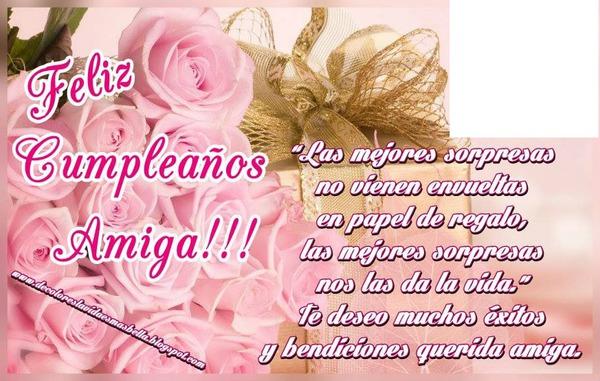Photo montage feliz cumpleanos amiga - Pixiz