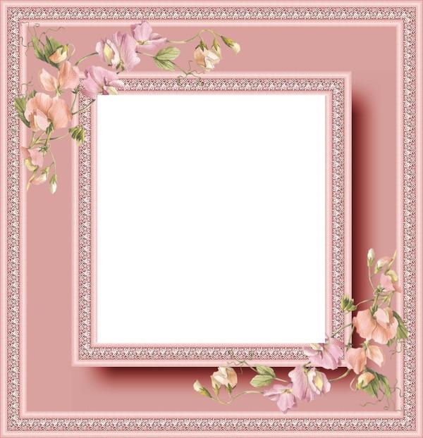 photo montage cadre rose fleurs pixiz. Black Bedroom Furniture Sets. Home Design Ideas