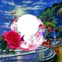boule coeur et rose