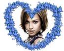 ハート♥青い花