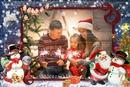 Weihnachtsmann Bohomme Schnee