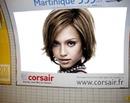 Scène Affiche publicitaire métro Corsair