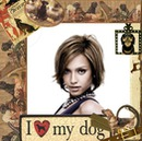 Chien I love my dog Coeur