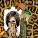 Nature Animals Baby leopard Puma Butterfly Ladybug