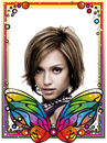 Maraming kulay stained glass butterfly