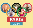 Paris Olympic Games sa 2024 na may 5 mga larawan at mga nako-customize na teksto