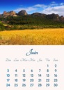 Calendar June 2018 printable in A4 format